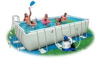 Бассейн 549х274х122см каркасный Intex Rectangular Ultra Frame Pool (7в1)