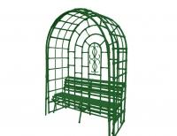 """Скамья в арке """"Б. Ладога"""" 210x150х65см. Зеленая"""