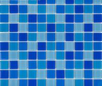 Плитка мозаика стеклянная 25x25 Jamaica Light Cristall Aquaviva