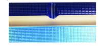 Плитка голубая бордюрная с рукохватом и водостоком AquaViva