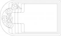 Спа-бассейны с 2-мя зонами:  зона для массажа на 3-5 человек и зона для плавания