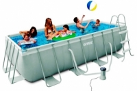 Бассейн каркасный Intex Rectangular Ultra Frame Pool - 28316.28350 400х200х100см