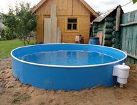 Бассейн пластиковый из полипропилена круглый 2,1х1,5м.